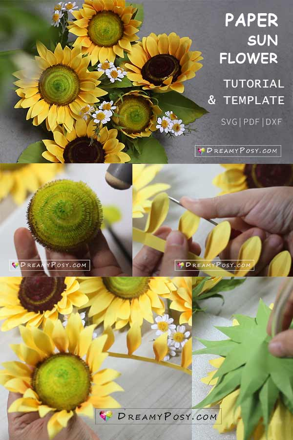 Paper sun flower tutorial