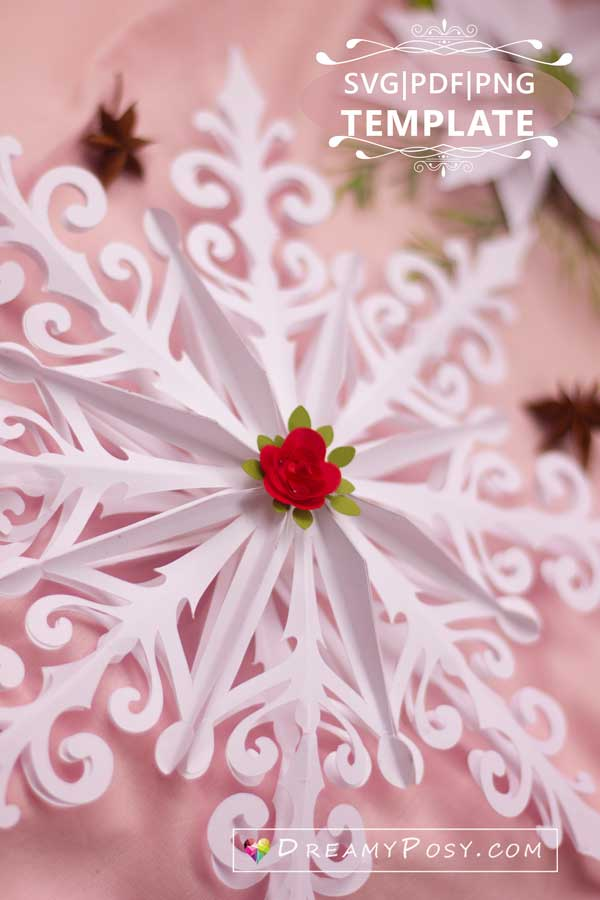 3d snowflake template