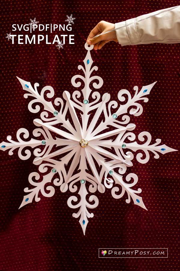 3d giant snowflake