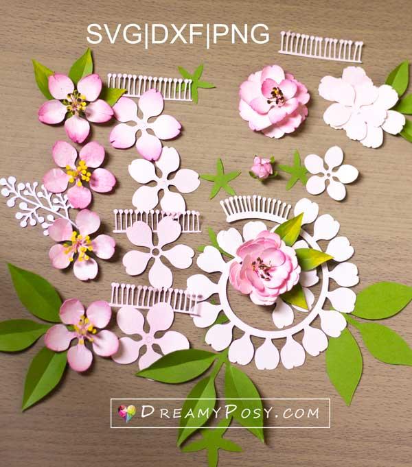 Paper blossom template