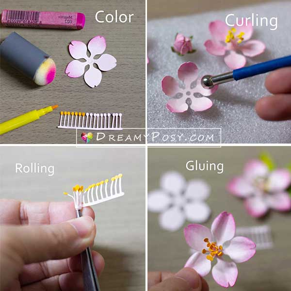 Paper blossoms tutorial
