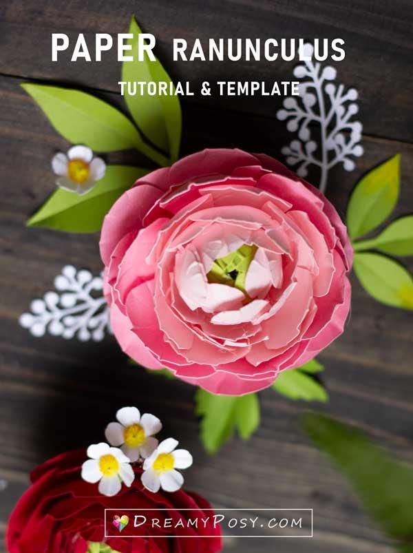 Paper Ranunculus tutorial