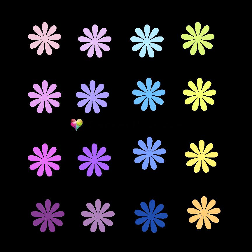 Paper flower template SVG and PDF digital #53