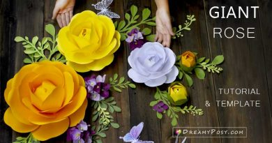 Giant Camellia paper flower tutorial and template