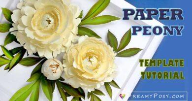 paper peony svg